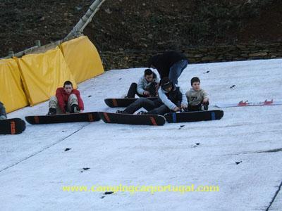 Preparativos para o snowboard