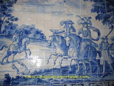 Pormenor de um de azulejos do Palácio